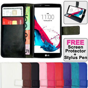 Premium-Leather-Flip-Case-Magnetic-Card-Wallet-PU-Stand-Cover-For-LG-G4-amp-G3