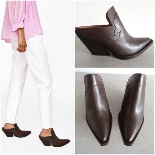Uk Eu Brown Cowboy Us Mule Boots Ankle 4 style Size Zara 6 Studio 5 37 Leather qPtAw5z5