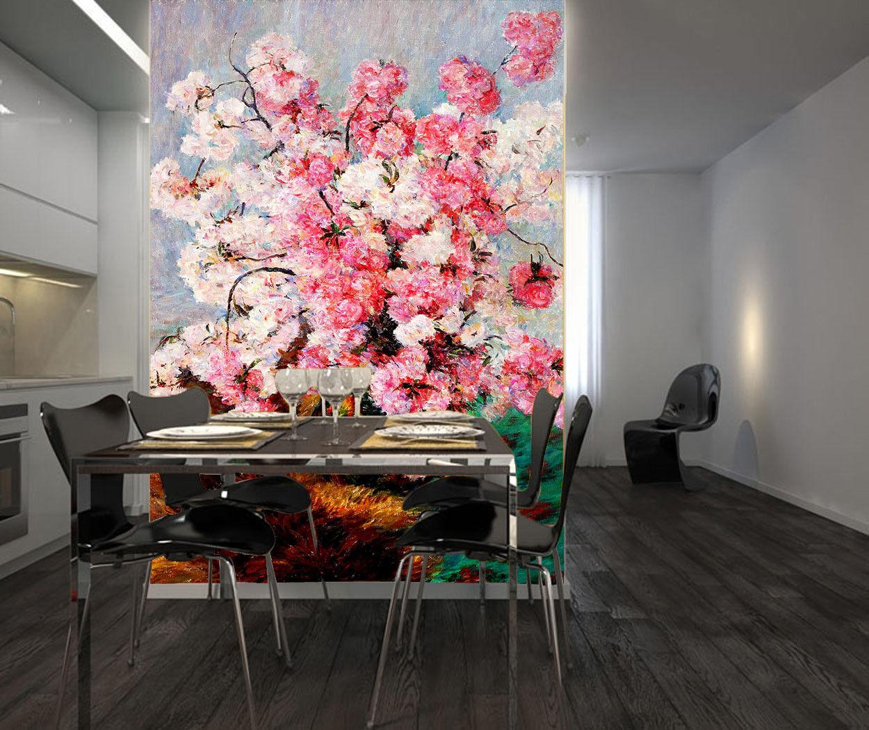 3D Rosa Sakura Blaume 74 Tapete Wandgemälde Tapete Tapeten Bild Familie DE Summer | Elegant  | Niedriger Preis  | Wirtschaftlich und praktisch