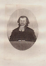 JOHN KAY Original Antique Etching. Dr. Thomas Snell Jones, Minister of..., 1792