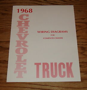1968 chevrolet truck wiring diagram manual for complete chassis 68 chevy |  ebay  ebay