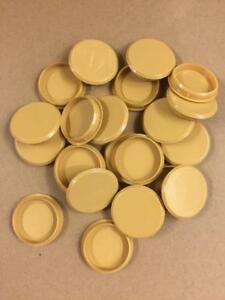 35mm LIGHT OAK PLASTIC HINGE HOLE COVER CAPS FOR KITCHEN ...