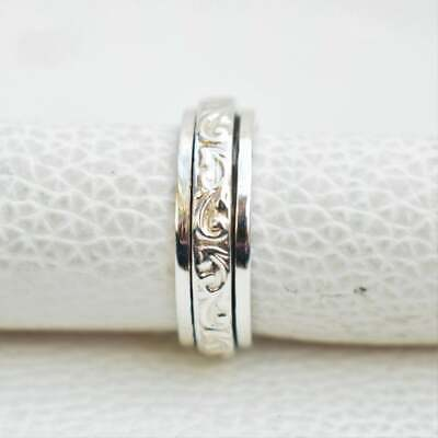 925 Sterling Silver Meditation ring statement ring Spinner Ring All Size GAJ-222