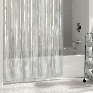 Image Is Loading 1PC SOLID VINYL BATHROOM SHOWER CURTAIN LINER WITH