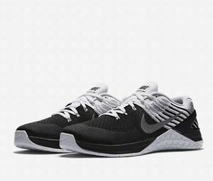 sneakers for cheap f5bc5 d29a6 Image is loading Nike-Metcon-DSX-Flyknit-852930-005-Black-White-