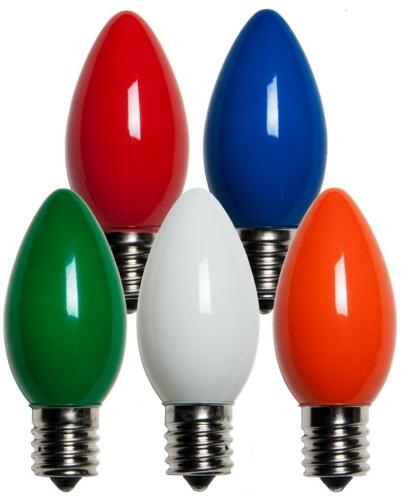 50 C9 Multicolor Opaque//Solid Color Bulbs Indoor//Outdoor Christmas Bulbs