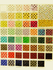 Sequin Knit Color Chart Choice Of Color 1 Yard Costume