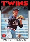 1986 Topps Pete Filson #122 Baseball Card
