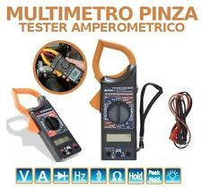 TESTER AMPEROMETRO  MULTIMETRO DIGITALE PROFESSIONALE PINZA DISPLAY LCD PUNTALI