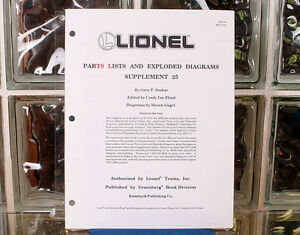 lionel parts lists and exploded diagrams supplement 25. Black Bedroom Furniture Sets. Home Design Ideas