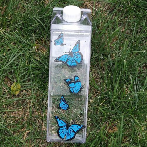 Details about  /Kitchen Leakproof Creative Transparent Clear Milk Water Bottle Drinkware plastic