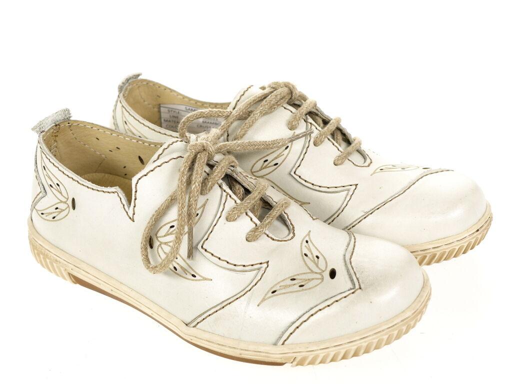 Rovers Musterschuh Schuhe Musterschuh Rovers 46011 Gr. 37 Original Schuhe  Neu offWeiß UNIKAT ee0305