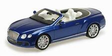 MINICHAMPS 2013 Bentley Continental GT Speed Cabrio Blue LE 999pcs 1:18 New!