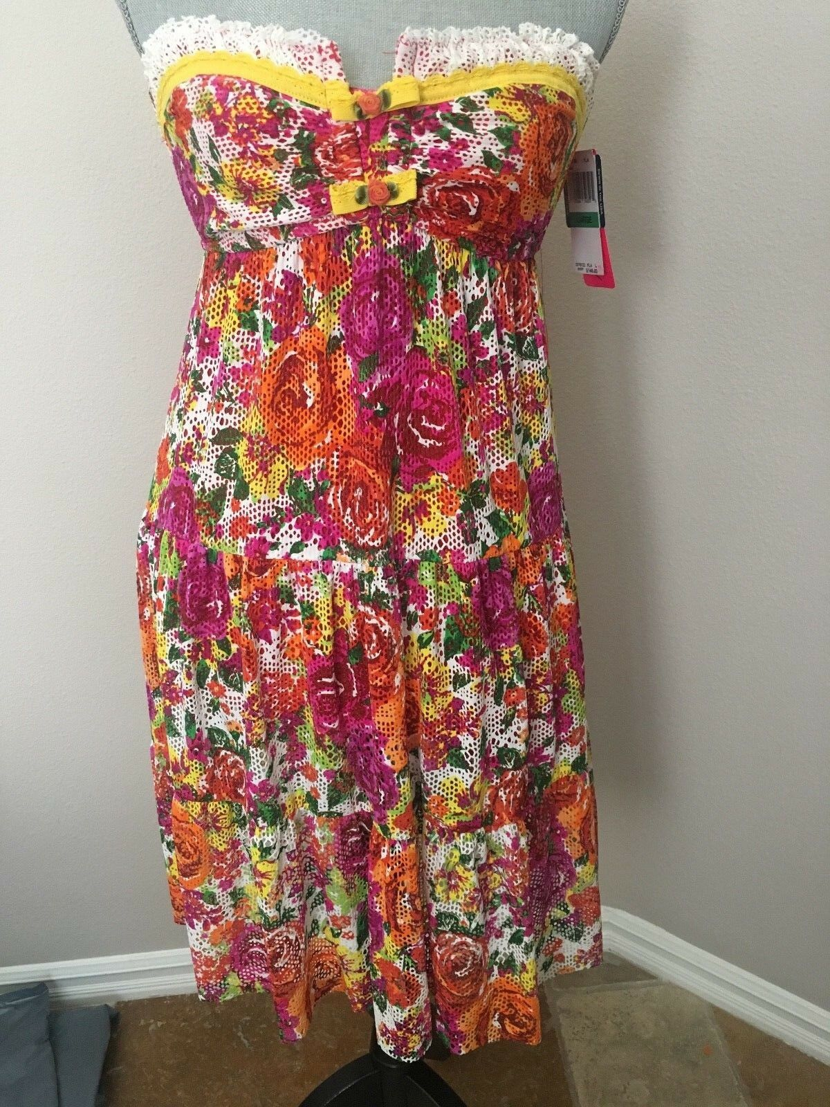 NWT BETSEY JOHNSON COVERUP SWIM DRESS L LARGE
