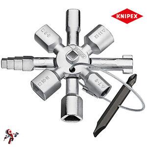 KNIPEX 001101 CHIAVE PER ARMADI ELETTRICI GAS ACQUA VALVOLE QUADRI ELETTRICI