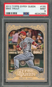 Mike-Trout-Los-Angeles-Angels-2012-Topps-Gypsy-Queen-Baseball-Card-195-PSA-9