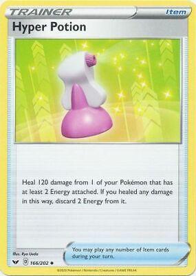 x4 Hyper Potion Uncommon Pokemon SS01 Sword /& Shield Base M//NM 166//202
