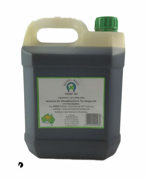 Worlds Best Hoof Oil all dressing grease all Oil year round Horse Stable 4lt FREE POST 3268ce