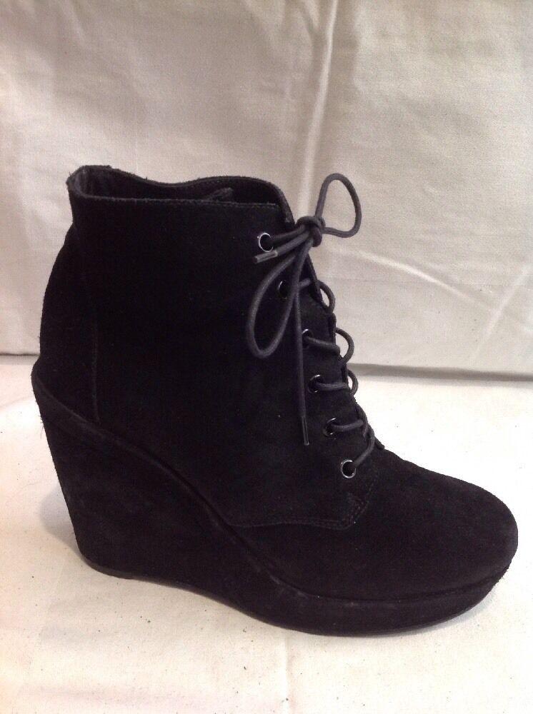 Carvela Black Ankle Suede Boots Size 41