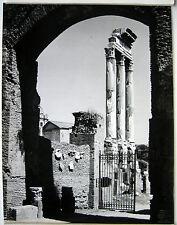 PHOTO ARGENTIQUE GATELLIER à BOULOGNE 1954 ROME ITALIE RUINES ANTIQUES  j307