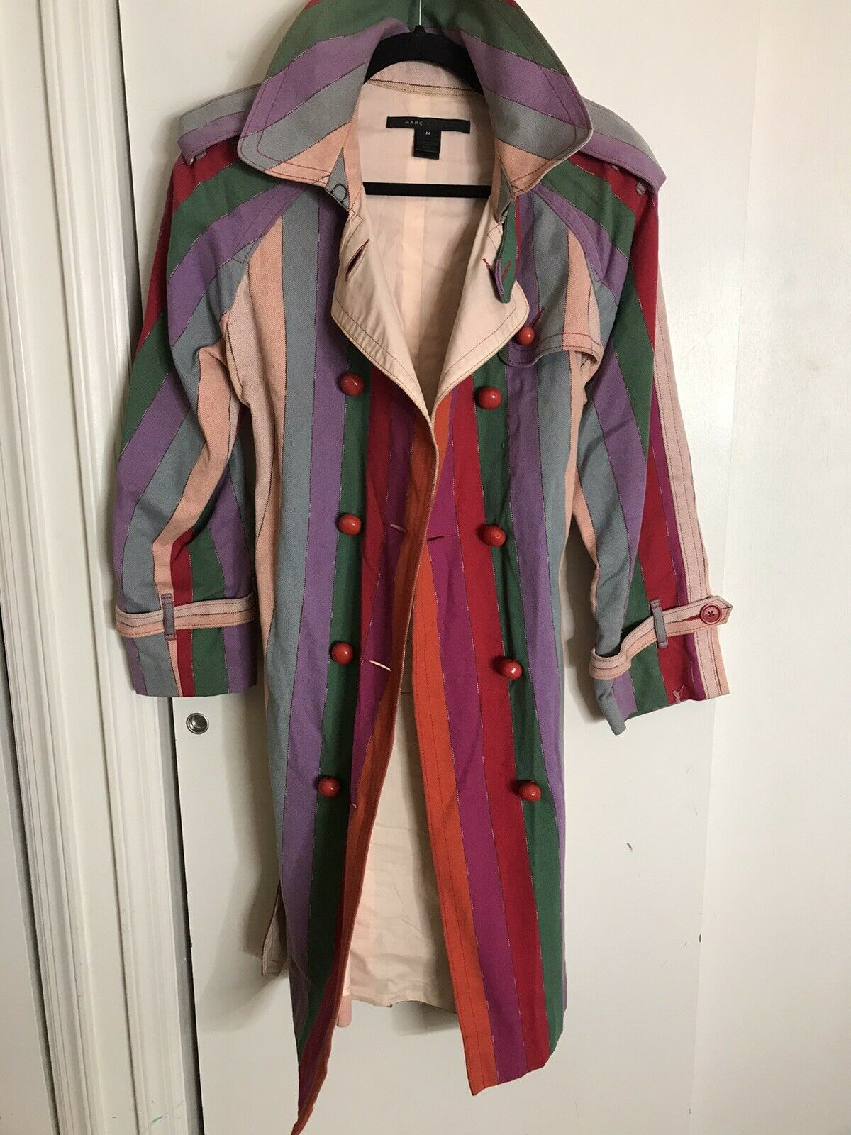 MARC JACOBS Multi Color Trench Coat Medium msrp $… - image 3