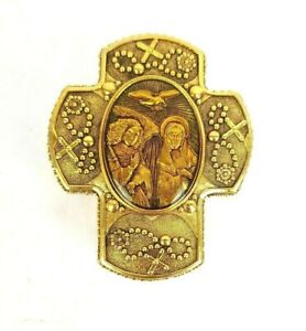 Rare-The-Vatican-Library-Collection-Ava-Maria-Rosary-Prayer-Trinket-Box-3-1-2-034