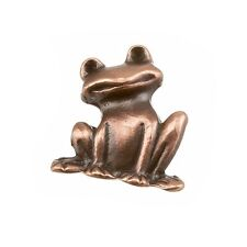 Antique Copper Frog Charm Pendant 19x22mm Pack of One (B103/3)