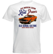 VINTAGE AMERICAN FORD MUSTANG BOSS 302 - NEW COTTON T-SHIRT