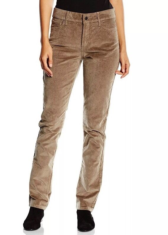 6 NEW NYDJ NOT YOUR DAUGHTER JEANS MARILYN STRAIGHT WALNUT BROWN CORDUROY
