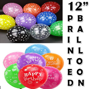"""12/"""" Mix Star Print Helium//Air Latex Balloons Party Decoration MultiColor Balloon"""