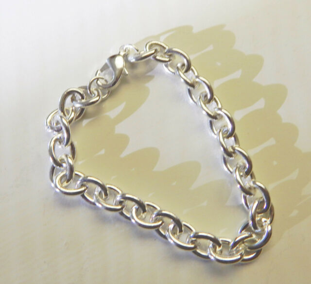 12x Chain Link Bracelet Silvertone Jewelry Making Charm Bracelets Party Favors