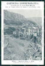 Ragusa Modica Alluvione 1902 Teatro Lirico Milano cartolina QT8043