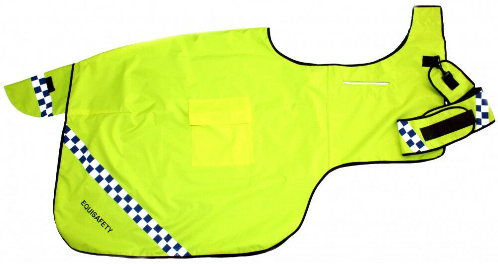 Equisafety Hi-Viz Cortés Fluorescente Impermeable Acolchado envoltura alrojoedor de alfombra de ejercicio