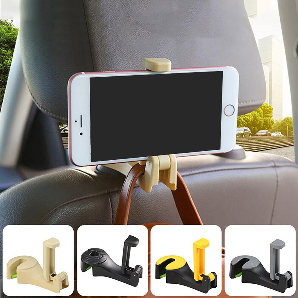 Car Back Seat Hook Hanger Stand Headrest Purse Bag Holder Phone Organizer Rack Home & Garden