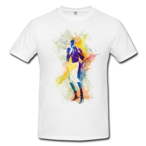 Boxe V Messieurs et Dames T-shirt sport motif de Paul Sinus Aquarelle