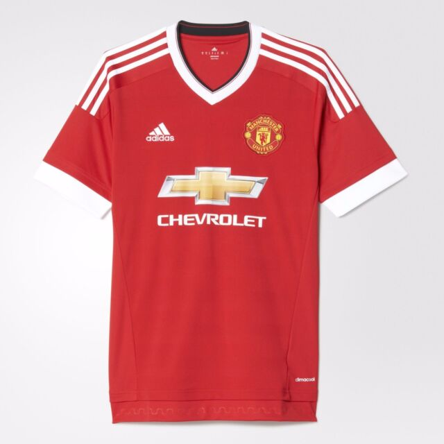 ADIDAS MENS XL MANCHESTER UNITED HOME JERSEY FOOTBALL SOCCER FOOTBALL RED  AC1414 d4180519c