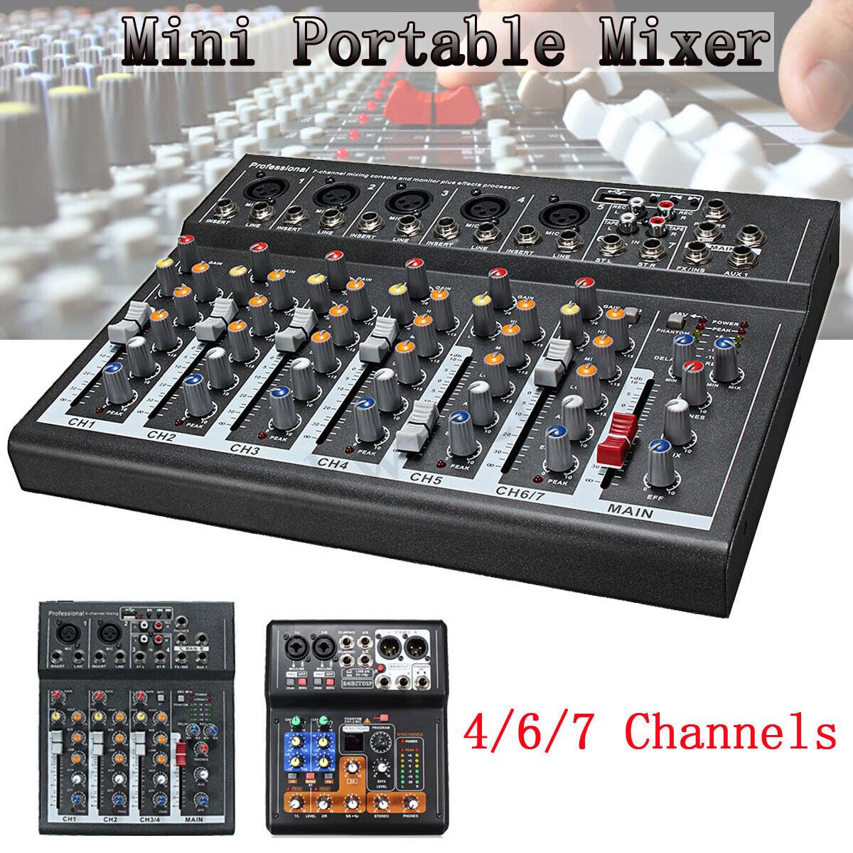 Professional 4 6 7 Channel Line Live Mixing Studio Audio Sound Mixer Console