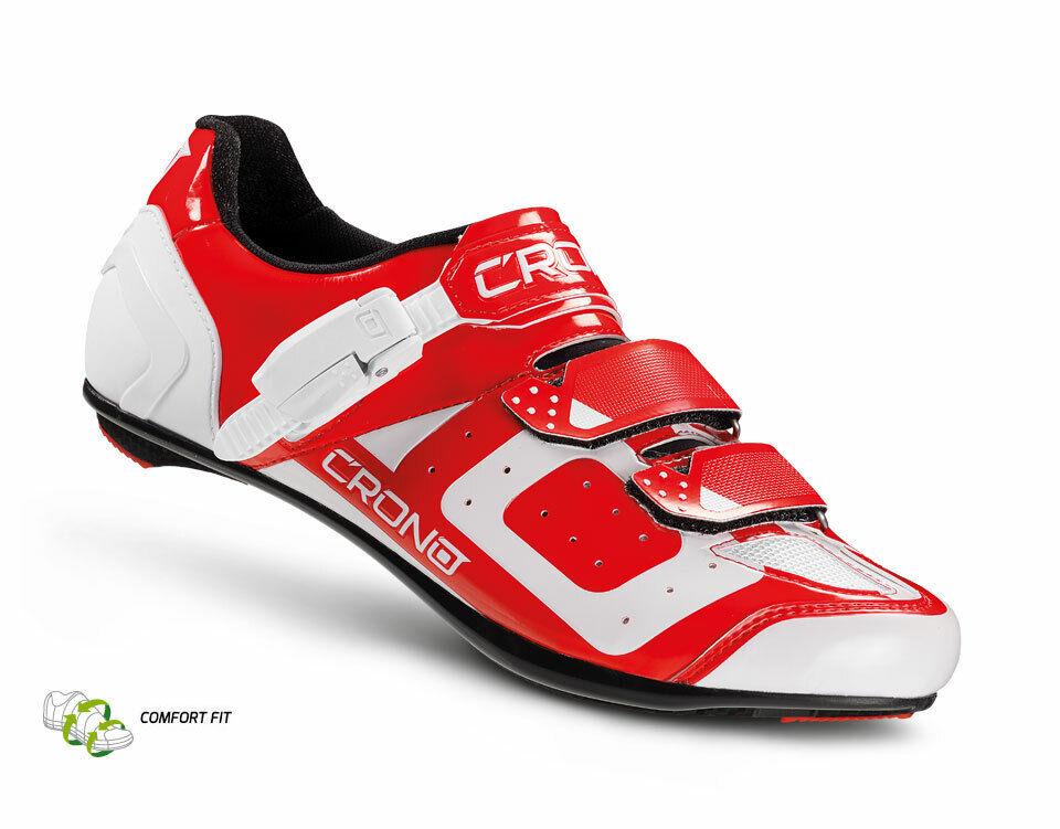 CRONO CR3 Herren Rennradschuhe Fahrradschuhe Radsportschuhe mit Carbon Sohle