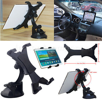 """Universal In Car Suction Mount Rotating Holder For All 7-11"""" iPad Galaxy Tablet"""