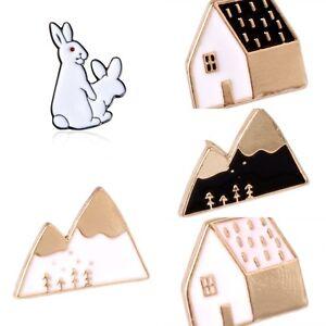 Cute-Cartoon-Animal-House-Montain-Fox-Design-Metal-Brooches-Pins-Buttton-Pin-Hot