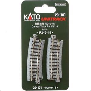 Kato-20-101-Rail-Courbe-Curve-Track-R249mm-15-4pcs-N