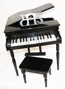 Kinder-Klavier-Piano-Fluegel-Kinderklavier-Hocker-in-4-Farben