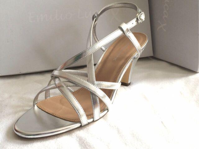 Ladiesl Emilio Luca X Sandals Silver UK 8