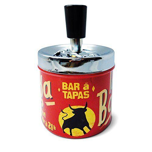 Metall Aschenbecher Bodega Spanien Stier Vintage Retro  , Fa. Natives Bar Tapas