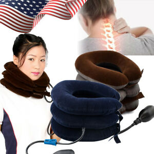 Cervical-Collar-Neck-Relief-Traction-Brace-Support-Stretcher-Inflatable-Health-A