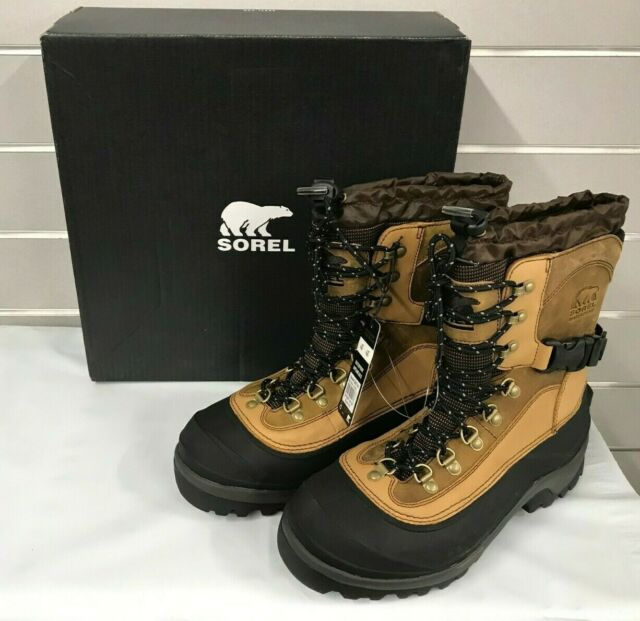 156c52954c9 SOREL Men's Waterproof Conquest Winter Snow Boots -40 Degrees NWT Size 10  Bark