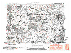 Kidderminster NW Wribbenhall N Franche old map Worcs 1938 8SW eBay