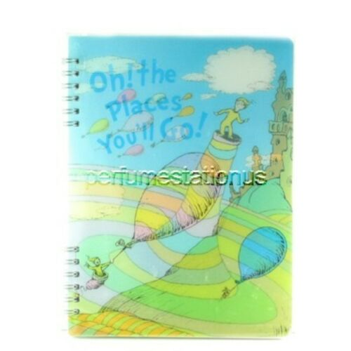 Oh The Places You/'ll Go  17295 Seuss Lenticular Spiral Notebook Lot of 2x Dr