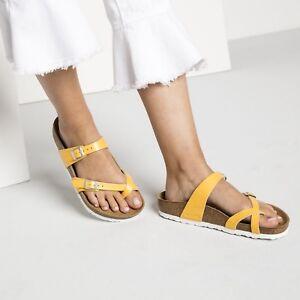Details zu Birkenstock Mayari Zehentrenner normal graceful amber yellow gelb 1008836 NEU