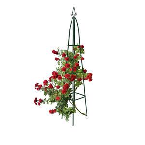 Garden-Trellis-Obelisk-Column-Growth-Frame-Pointy-Top-2m-Climbing-Plant-Support